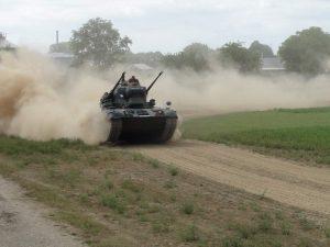 Gepard Panzer bei der Fahrzeugschau am Museumsfest